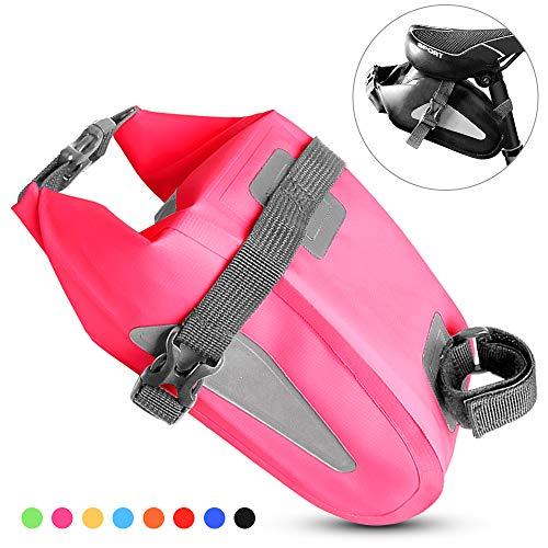 TOMSHOO Bike Saddle Bag,Waterproof Bicycle Wedge Pack Reflective Cycling Rear Seat Post Bag Large Capacity Tail Rear Bag…