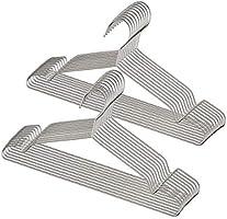 ステンレス ハンガー 洗濯ハンガー すべらない 衣類ハンガー 頑丈 錆びにくい 曲がらない 幅42cm 20本組 セット (シルバー)