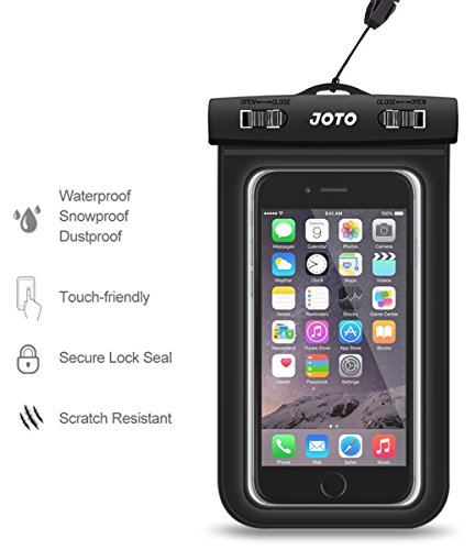 JOTO Universal Waterproof Case Bag Pouch for iPhone and Android Smartphones Apple iPhone 6 6 plus 5S 5C 5 4S Samsung Galaxy S6 S5 S4 S3 Samsung Note 432 LG G4 G3 Motorola MOTO Nokia Sony HTC One M9 M8 M7 [Cellphone Waterproof Life Pouch...