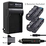 ARCHE NP-F550 F550 NP-F330 NP-F570 Battery <2 Pack> and Rapid Charger for [Sony NP-F330 NP-F530 NP-F570 and Sony CCD-RV100 CCD-RV200 SC5 SC9 TR1 TR940 TR917 Camera CN-160 CN-216 LED Video Light]