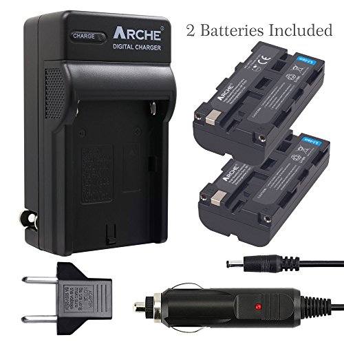 ARCHE NP-F550 F550 NP-F330 NP-F570 Battery <2 Pack> and Rapid Charger for [Sony NP-F330 NP-F530 NP-F570 and Sony CCD-RV100 CCD-RV200 SC5 SC9 TR1 TR940 TR917 Camera CN-160 CN-216 LED Video Light] by ARCHE