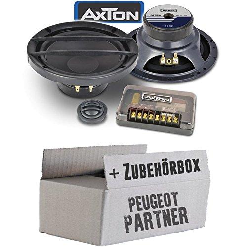 Peugeot Partner - Lautsprecher Boxen Axton ATC26   16cm 2-Wege Kompo System Auto Einbauzubehö r - Einbauset JUST SOUND best choice for caraudio PePar_ATC26