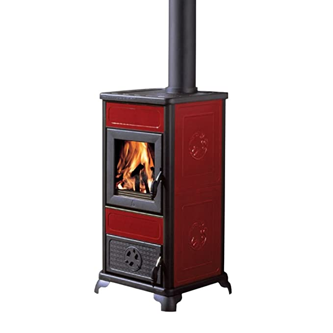 BLANCO estufa de Leña 7,2kw Burdeos Hogar fundido Calefacción casa 434450: Amazon.es: Hogar