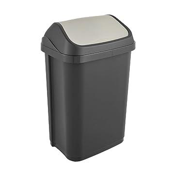 keeeper Abfallbehälter mit Schwingdeckel, 25 l, Swantje, Graphit ...