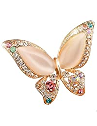 OPal Rhinestone Brooches For Wedding Joker Butterfly Cute Animal Brooches For Women Fashion Jewelry Gifts