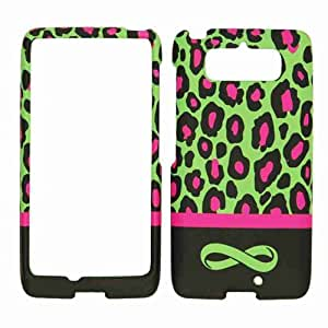 Cell Armor Motorola Droid Mini Snap-On Cover - Retail Packaging - Green Leopard with Infinity Logo