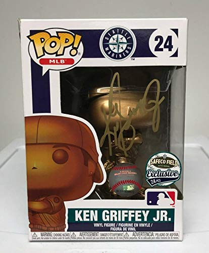 Ken Griffey Jr Signed FUNKO POP! Vinyl Bronze Doll COA EXTREMELY RARE! - Tristar Productions Certified