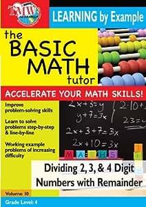 Basic Math Tutor: Dividing 2,3, & 4 Digit Numbers With Remainder