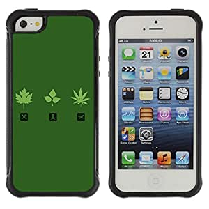Hybrid Anti-Shock Defend Case for Apple iPhone 4s 4s Marijuana Leaf