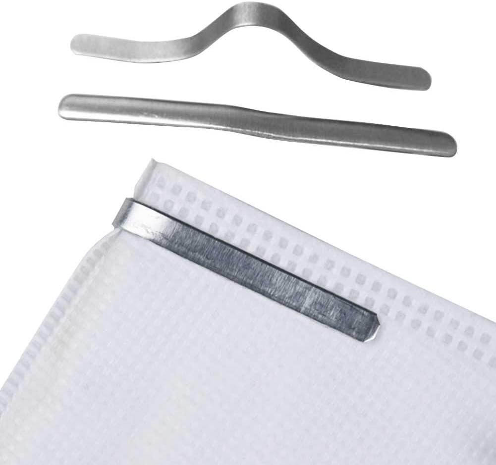 Apofly 100PCS Pince-Nez en Plastique Flexible Bande Pince-Nez en Aluminium R/églable Pont pour Fournitures de Fabrication de Bijoux