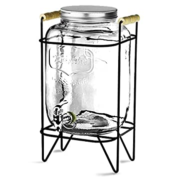 Yorkshire Mason tarro dispensador de bebidas con función atril 8ltr - caso de 2 | Bar @ Drinkstuff Beverage Dispenser, Mason tarro dispensador de bebidas, ...