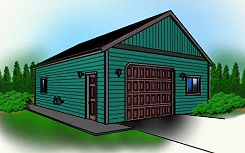 Cad Northwest Residential Garage Blueprint - Style D - 24' x 36' Garage Plan