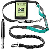 TUMMBA GO Hands Free Dog Walking Leash • Reflective Bungee Cord for Running + Dog Whistle & eBook, Adjustable Harness & 2 Padded Handles, Turns Into a Belt Leash for Training