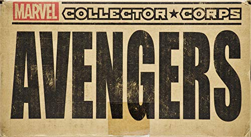 2015 - Marvel Collector Corps - Avengers Box - 3X T Shirt/Pop! #73 Hulkbuster Bobble-Head/Dorbz Avengers Age of Ultron/Avengers #001 Variant Comic - Pus More - Collectible - Rare ()