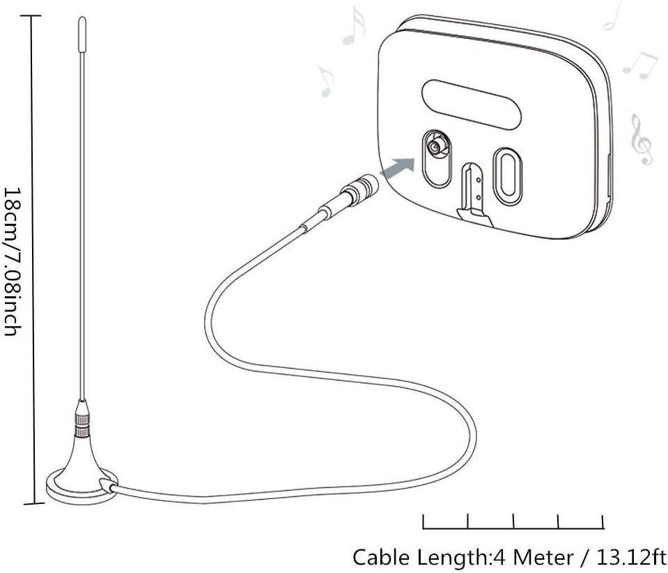 Bingfu Dab Antena de Radio para Coche SMB Adaptador de Antena Magnética con 4m 13.1ft Cable de Extensión Compatible con Pioneer Radio Sony Pure Alpine ...