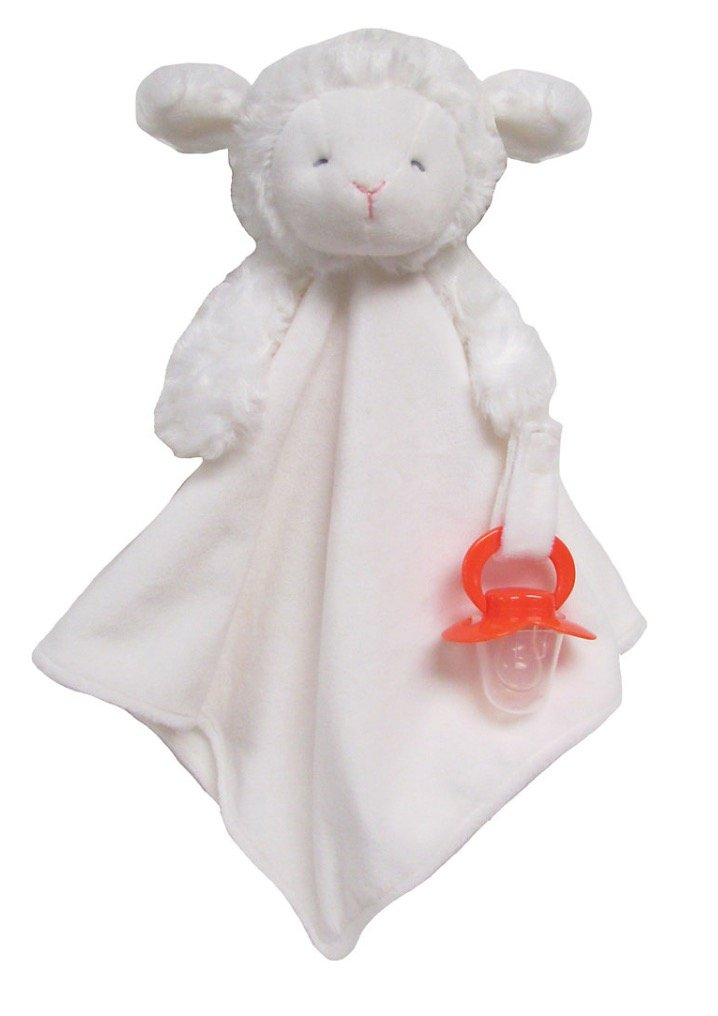 Carter's Lamb Security Blanket with Pacifier Clip Unisex Boy Girl Carter' s