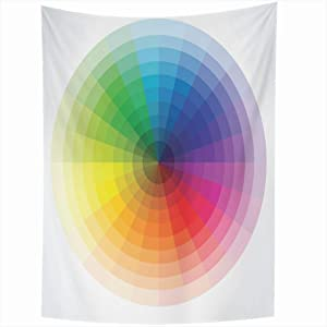 FUEWU Tapestry Wall Hanging 60x90 Inches Color Style Concentric Wheels Wheel Colourful Creative Textures Multicolored Secondary Saturation Tapestries Home Decor Blanket Bedroom Living Room Dorm