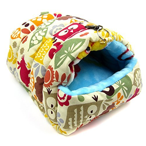 Alfie Pet by Petoga Couture - Lonnie Sleeping Cave Bed for Small Animals Like Dwarf Hamster and Mouse - Pattern: Animal