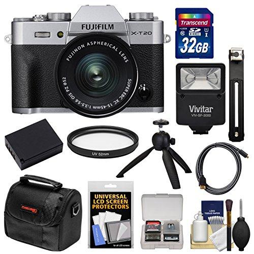Fujifilm X-T20 Wi-Fi Digital Camera & 15-45mm XC OIS PZ Lens