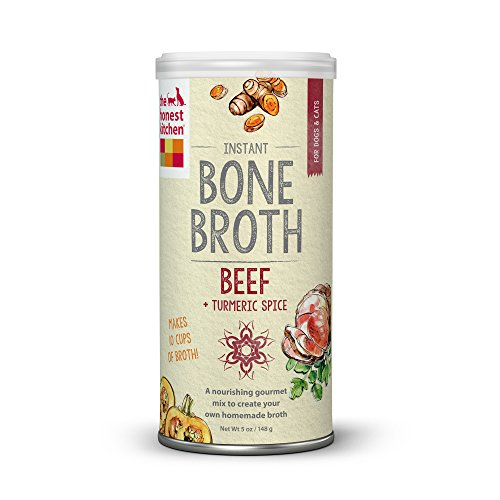 Pet Supplies : The Honest Kitchen Beef Bone Broth - Natural Human Grade Functional Liquid Treat with Turmeric Spice for Dogs & Cats, 5 oz
