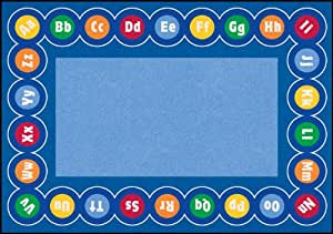 Learning Carpets CPR460 - Abc Rotary Rectangle, Large