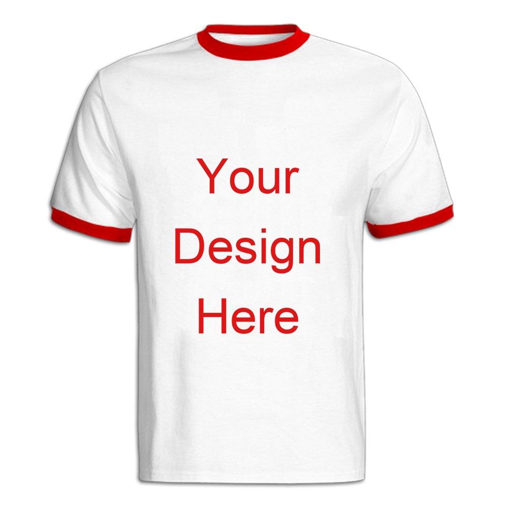 2f248ccd Amazon.com: AntoniaDay Custom T Shirt Design Ringer Tee T Shirt Printing  Men's Ringer T-Shirts: Clothing