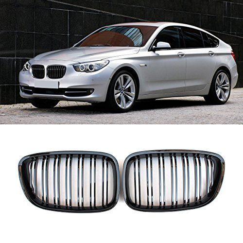 (F07 Grille, ABS Front Replacement Kidney Grill for 5 Series GT/F07 Gloss Black)