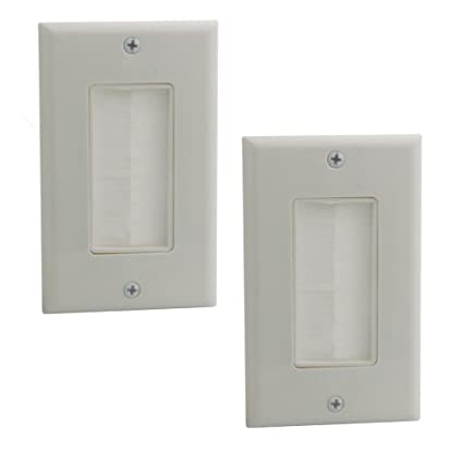 Recessed Wall Plate WI1009-2 Pack Decorative Wallplate With Fly Mounting Wings /""