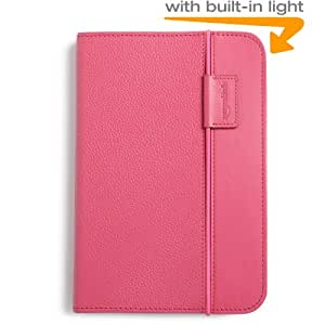 Kindle Lighted Leather Cover, Hot Pink (Fits Kindle Keyboard)