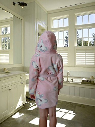 BlueberryShop Printed Luxurious Hooded Soft Warm and Fluffy Velour Bathrobe, Robe, Dressing Gowns 1-7 Yrs ( 1-7Yrs ) ( 1 - 2 Yrs ) Verde