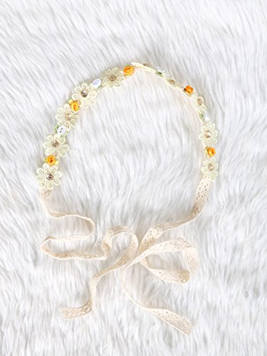 Festival Boho Hippy Hair Head Band/ Rose Crown/Bohemian style (Blooming Sunshine) (Dia Del Los Muertos Costume)
