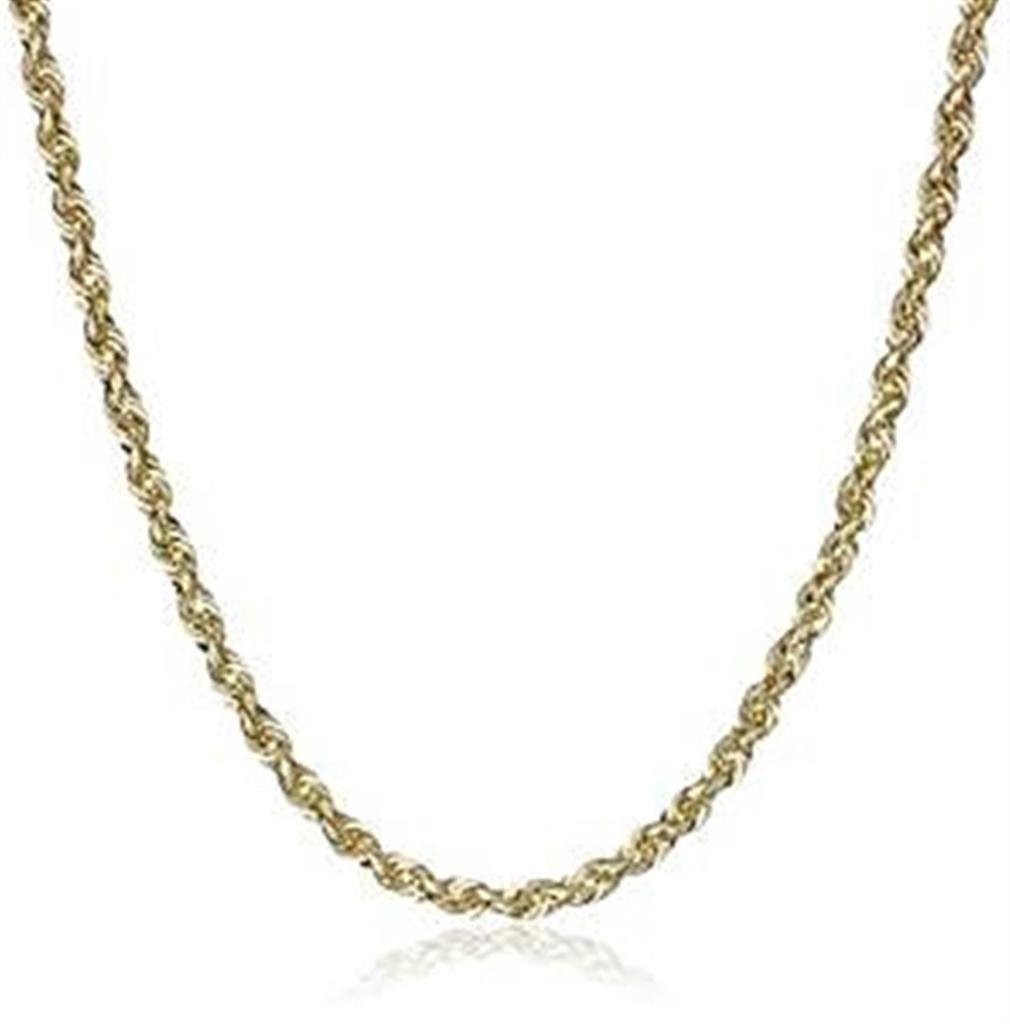 10k Yellow Gold 2mm D-cut Rope Chain Necklace Lobster Clasp by Midwest Jewellery