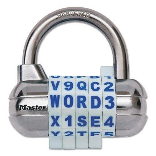 MASTERLOCK 1534D Password Plus Combination Lock, Hardened Steel Shackle, 2 1/2