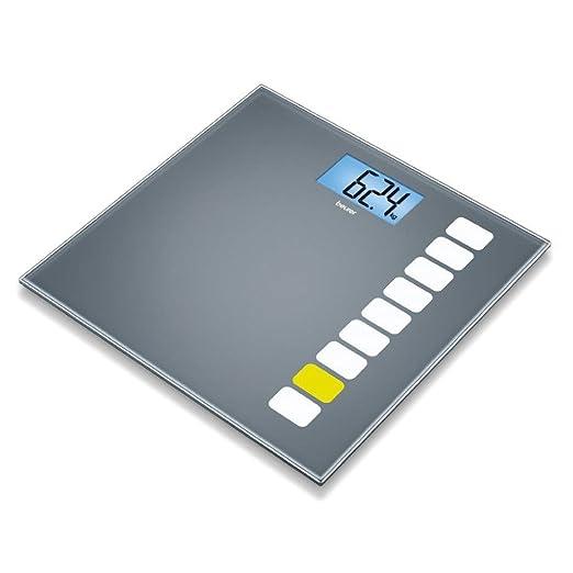 63 opinioni per Beurer GS 205 Bilancia in Vetro con Display Retroilluminato Blu, Sequence,
