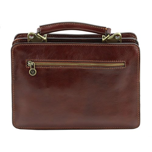 Tuscany Leather - Serviette cuir- Marron