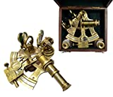 Brass Nautical 4inch Brass Sextant in Gift Box from