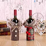 2pcs Christmas Sweater Wine Bottle Cover, Newest