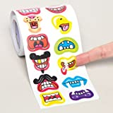 Baker Ross Mouth/Lips Stickers for Children to Decorate and Personalize Crafts & Cards - Scrapbooking Model Making Embellishment for Kids (Roll of 400)