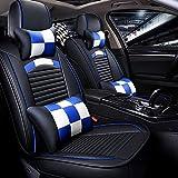 Danti 10PCS Full Set Needlework PU leather Front and Rear Car Seat Cushion Cover