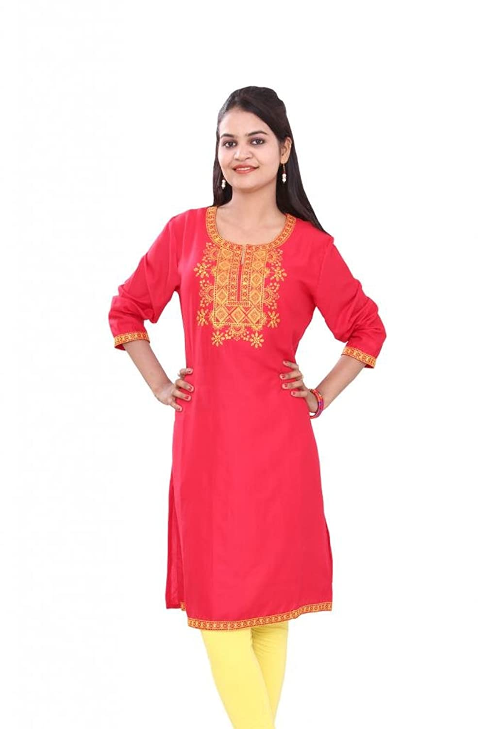 Pezzava Women's Traditional Kurti Embroidery