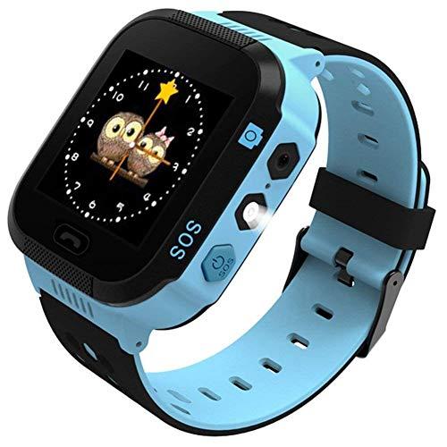"SZBXD Kids Smart Watch Phone, 1.44"" GPS Tracker Smartwatch Touch Camera Games Flashlight SOS Alarm Clock Sports Wrist Watch Christmas Birthday Gifts for Girls Boys Children (T09-blue)"