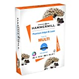 Hammermill Printer Paper, Premium Ink & Laser Copy Paper, 24lb, 8.5x11, Letter, 97 Bright - 1 Pack / 500 Sheets (166140R)