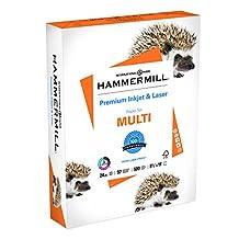 Hammermill Printer Paper, Premium Ink & Laser Copy Paper, 24lb, 8.5x11, Letter, 97 Bright - 1 Pack/500 Sheets (166140R)