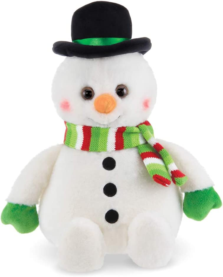 Bearington Big Snowball Plush Holiday Snowman Stuffed Animal, 14 inches
