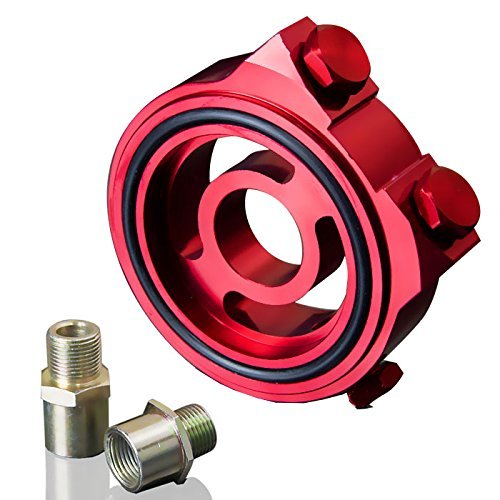 Upgr8 U8102-1002 Oil Filter Sandwich Plate Adapter Kit (Red)