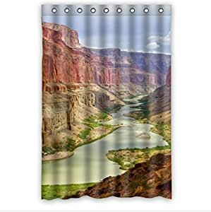 Beautiful Grand Canyon Scenery Design Arizona Custom 100% Polyester Waterproof Shower Curtain 48 x 72