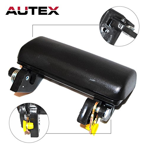 AUTEX Black Exterior Outside Front Right Passenger Side Door Handle for 1993-2002 Ford Ranger, 2003 Ford Ranger-Edge Submodel, 2003 Ford Ranger-XLT - Ranger Door Handle Ford