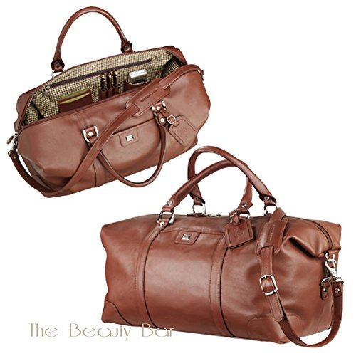Cutter & Buck Classics Vintage Leather Weekender Duffle Bag, Chestnut by Cutter & Buck (Image #2)
