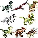 8x Jurassic World Dinosaurs Brick Blocks: Indominus Rex T-Rex Pteranodon Raptor CJ451