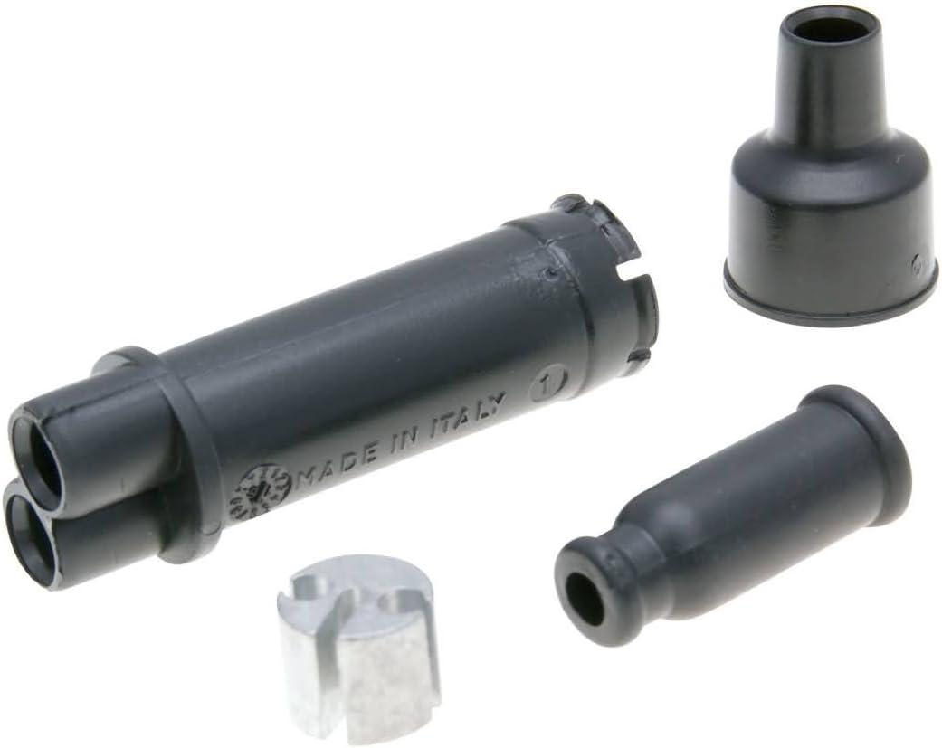 89-97 MRX RST Gaszug Verteiler//Splitter schwarz f/ür Malaguti Fifty JX